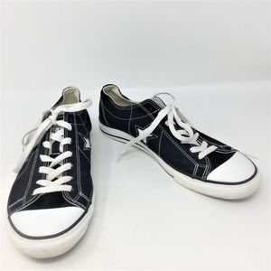 Converse One Star Black Low Top Sneakers 10